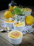 Curd pudding Stock Photography