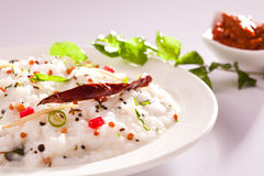 Curd Rice - arroz indiano sul do iogurte. Imagem de Stock
