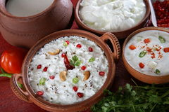 Curd rice. Indian dish studio table top Royalty Free Stock Images