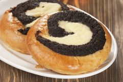 Curd tarts with poppy seeds Stock Photography
