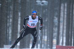 Curdin Perl - cross country skiing Stock Photo