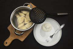 Curds dumplings Stock Images