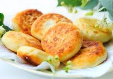Curds i pancake Immagini Stock