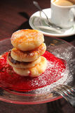 Curds pancake Royalty Free Stock Images