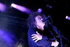The Cure band in concert at San Miguel Primavera Sound Festival Stock Image