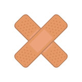 Cure band first aid icon Royalty Free Stock Images