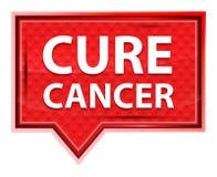 Cure Cancer misty rose pink banner button stock illustration