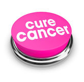 Cure Cancer - Pink Button Stock Photos