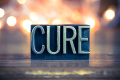 Cure Concept Metal Letterpress Type Stock Photo