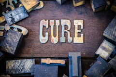 Cure Concept Rusty Type Royalty Free Stock Photos
