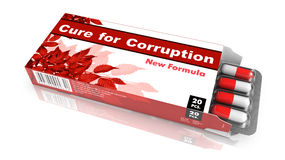 Cure for Corruption - Blister Pack Tablets. Royalty Free Stock Photography