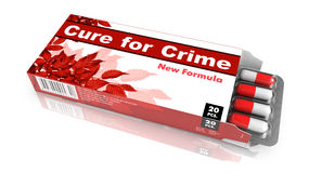 Cure for Crime - Blister Pack Tablets. Royalty Free Stock Images