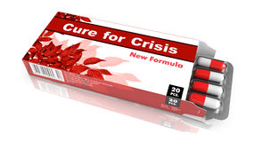 Cure for Crisis - Blister Pack Tablets. Royalty Free Stock Image