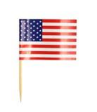 Cure-dents de drapeau de l'Amérique Photographie stock libre de droits