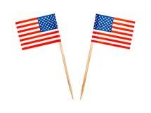 Cure-dents de drapeau des Etats-Unis de nourriture Photo stock