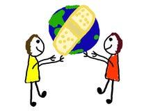 Cure el mundo Foto de archivo libre de regalías