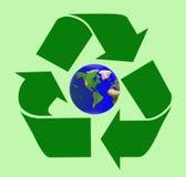 Cure el mundo reciclando Fotografía de archivo libre de regalías
