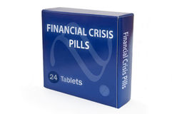 Cure for financial crisis Stock Images
