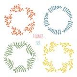 Cure floral frame set.  Vector design Royalty Free Stock Images