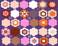 Cure floral pattern. Pretty floral seamless pattern in warm colors Stock Photos