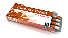 Cure for Fraud - Blister Pack Tablets. Stock Photos