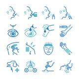 Cure icons set. Flat Design Illustration: Cure icons set vector illustration