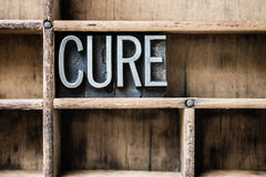 Cure Letterpress Type in Drawer Royalty Free Stock Photo