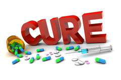 Cure Medication Royalty Free Stock Photos