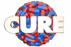 Cure Pills Medicine Research End Disease Sphere Stock Images