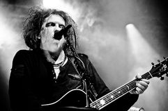 The Cure. Robert Smith Of The Cure performing at the primavera sound music festival 2012 royalty free stock photo