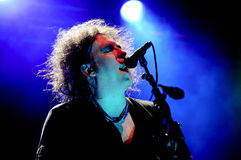 The Cure. Robert Smith of The Cure performing at primavera sound music festival 2012 in barcelona royalty free stock photos