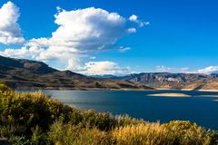 Curecanti NRA blisko miasteczka Gunnison w Kolorado obraz stock