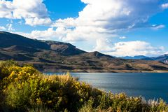 Curecanti NRA near the town of Gunnison in Colorado stock images