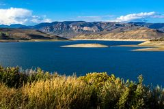 Curecanti NRA near the town of Gunnison in Colorado royalty free stock photo