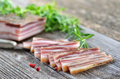 Cured Bacon Stock Photo