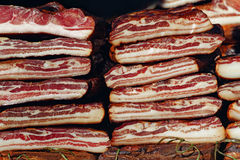 Cured Bacon Stack Stock Photo