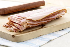 Cured delicious bacon Royalty Free Stock Image