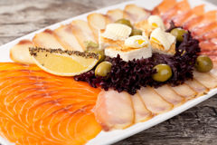 Cured FIsh with Lemon Stock Images