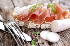 Cured ham Stock Photos