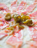 Cured ham and chili tapas Royalty Free Stock Photography