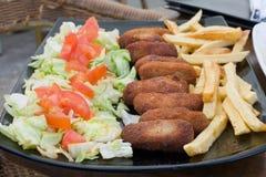 Cured Ham Spanish Croquettes Stock Images
