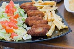 Cured Ham Spanish Croquettes Stock Photos