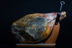 Cured Jamon Serrano Ham from Spain stock image