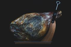 Cured Jamon Serrano Ham from Spain royalty free stock images