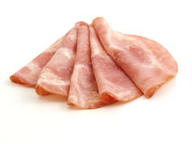 Cured meat. Isolated on white background Stock Photo