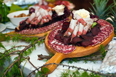 Cured meats Royalty Free Stock Images