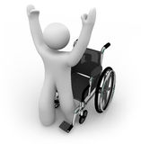 Cured Person Rising from Wheelchair Stock Images