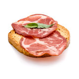 Cured pork loin. Slices of cured pork loin Royalty Free Stock Images