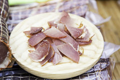 Cured pork loin Royalty Free Stock Photo