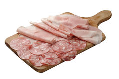 Cured pork meals Royalty Free Stock Image
